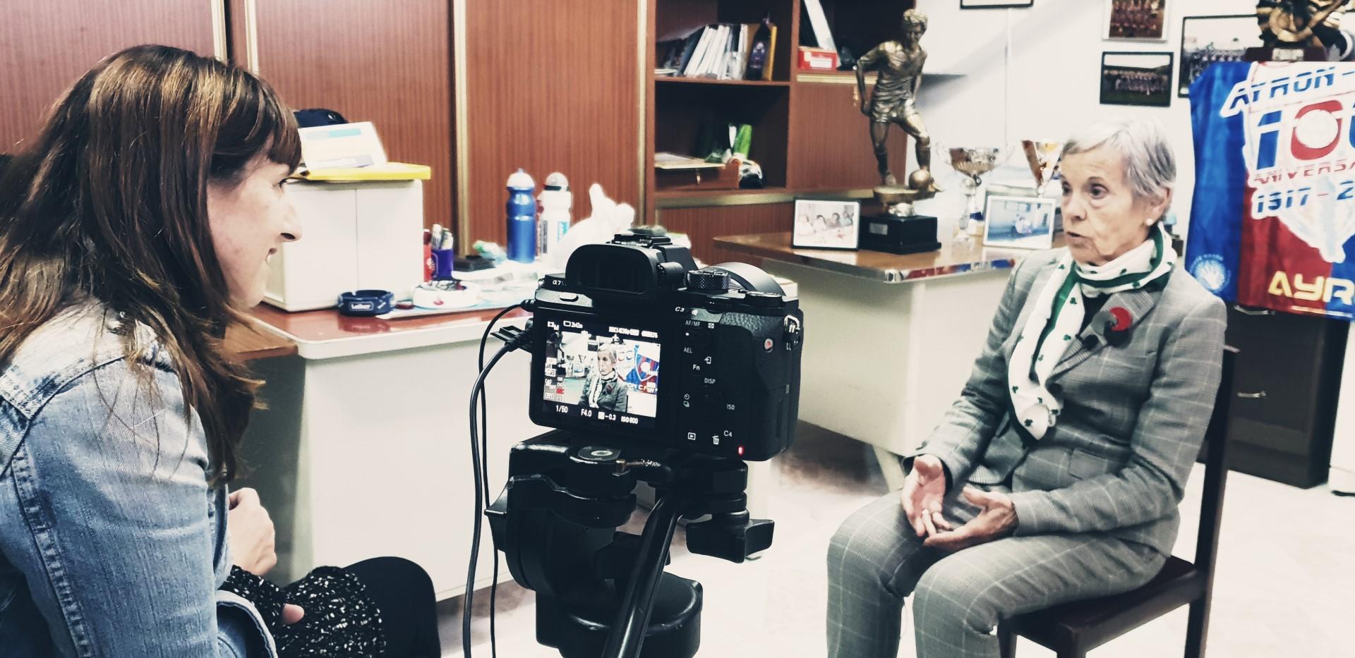 entrevistando a Amelia Quintanal, la primera entrenadora de fútbol de España